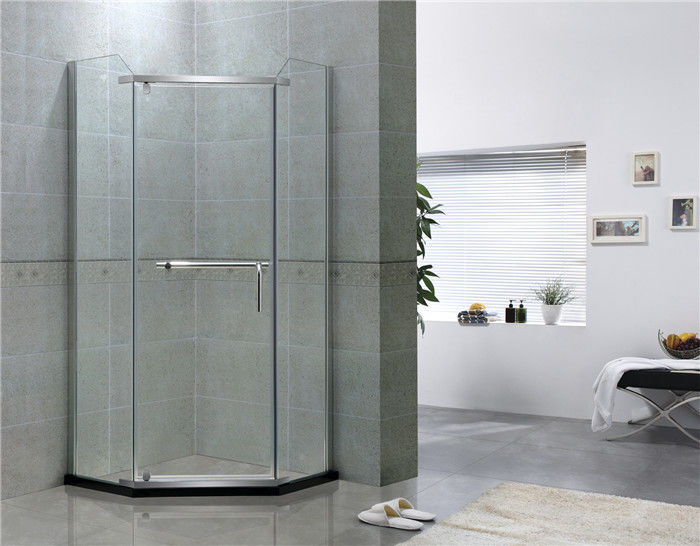 Mirror Color Pivot Shower Enclosure Diamond Shape Tempered Glass Shower Doors